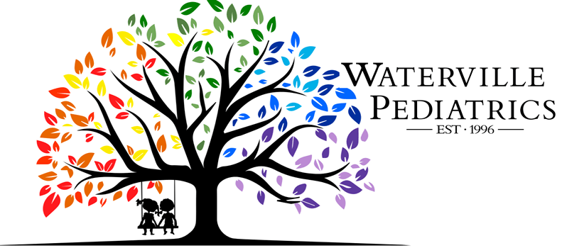 Logo and banner for Waterville Pediatrics.